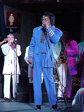 Brown during the NBA All-Star Game jam session, 2001 James Brown 2001.jpg