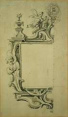 Design for the left-hand half of a frame for a painting or a brotherhood catalogue or reliquary