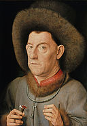 Jan van Eyck (successors) - Man with pinks - Google Art Project.jpg