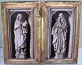 Jan van eyck (cerchia), san giovanni battista e la vergine, 1440 ca..JPG
