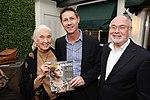 Jane Goodall with Grant Schreiber and Jonathan Granoff.jpg