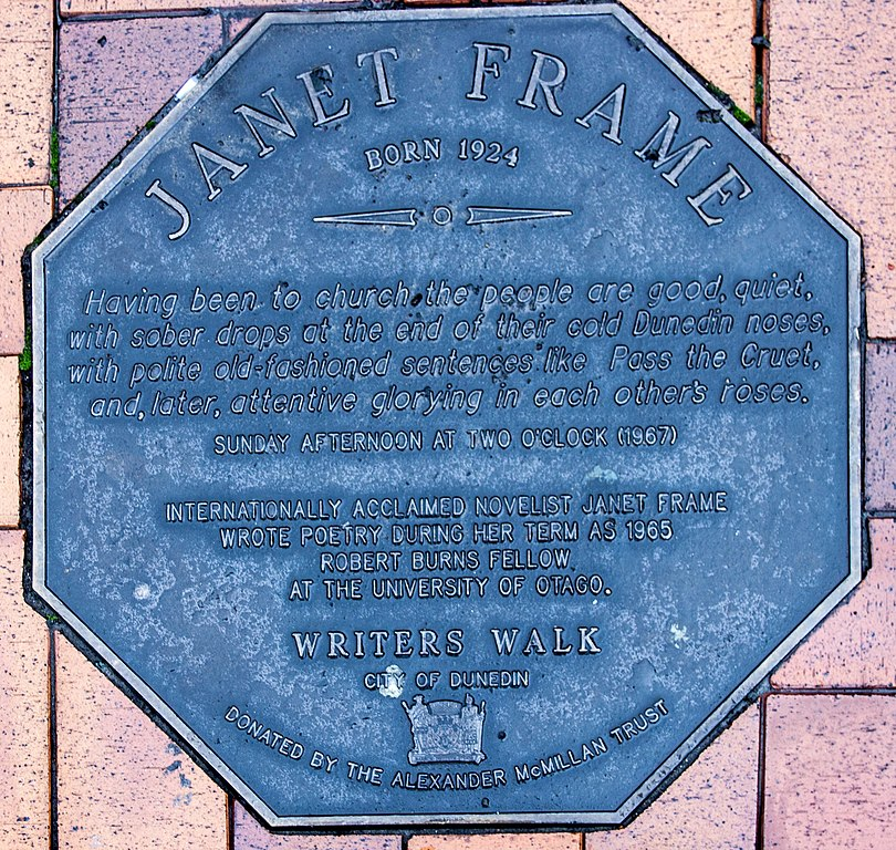 File:Janet Frame memorial plaque in Dunedin.jpg - Wikimedia Commons