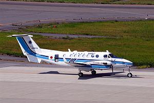 Japan Coast Guard Beechcraft King Air 350 (JA867AFL-222).jpg