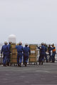 Japan Maritime Self-Defense Force sailors prepare to provide simulated humanitarian aid on the helicopter destroyer JDS Hyuga (DDG 181) during Dawn Blitz 2013 near Naval Base Coronado, Calif., June 14, 2013 130614-M-BZ222-013.jpg