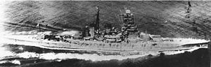 Japanese battleship Hiei underway in Tokyo Bay on 11 July 1942 (NH 73075).jpg