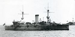 Japanese cruiser Naniwa in 1887