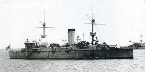 Japanese cruiser Naniwa - Image: Japanese cruiser Naniwa in 1887