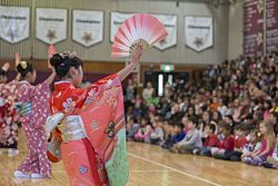 Japanese cultural exchange program performs at M.C. Perry 160211-M-OH021-887.jpg