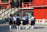 นักเรียนชั้นมัธยมต้นของญี่ปุ่น
