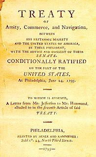 Jay Treaty 1795 treaty between the U.S. and Great Britain to relieve post-war tension