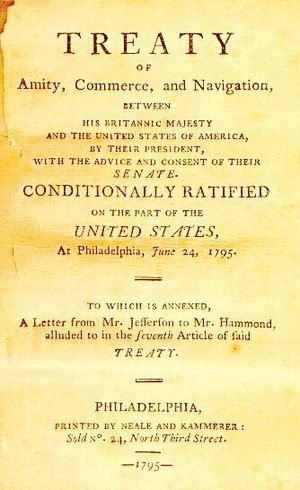 Jay Treaty - Image: Jay's treaty