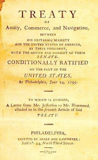 Jay Treaty - Image: Jay's treaty