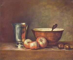 1749 in art - Chardin, The Silver Beaker