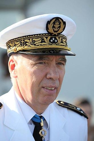 Marseille Naval Fire Battalion - Vice Admiral Jean-Michel L'Hénaff, former commanding officer of the BMPM.
