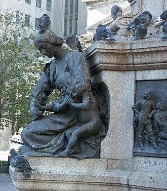 Maisonneuve Monument - Jeanne Mance