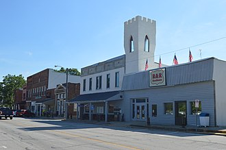 Cromwell, Indiana - State Road 5 in the downtown district