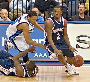 Jeremy Pargo - Pargo (right) playing for Gonzaga in 2008.