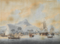 John Cleveley the Younger, Views of the South Seas (No. 1 of 4).png