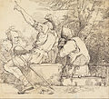 John Hamilton Mortimer - Three Soldiers in Armour Sitting on Stone Blocks - Google Art Project.jpg