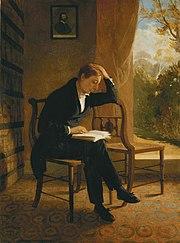 Ritratto di Keats realizzato dall'amico Severn, tra il 1821 ed il 1823