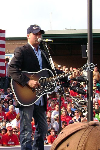 "John Rich - John Rich performing his song ""Raisin' McCain"" at a John McCain campaign rally in O'Fallon, Missouri"
