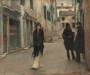 Street in Venice - Street in Venice, c. 1882. National Gallery of Art, Washington DC. 45.1 cm × 53.9 cm