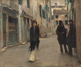 <i>Street in Venice</i> painting by John Singer Sargent