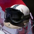 John Surtees helmet and racing goggles Museo Ferrari.jpg
