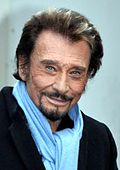 El cantante y actor francés Johnny Hallyday