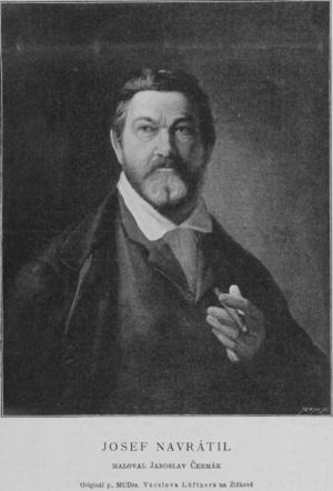 Josef Matěj Navrátil - Portrait of Josef Matěj Navrátil by Jaroslav Čermák