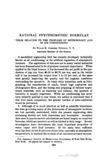 Rational Psychrometric Formulae
