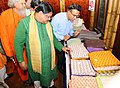 Jual Oram visiting after inaugurating an exhibition of tribal products, at the launch of 'Tribes India' e-commerce portal, M-commerce app and Tribes India banners on AmazonSnapdealPaytmGeM, in New Delhi (1).jpg
