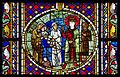 Jugement de Salomon 3, vitrail roman, Cathédrale de Strasbourg.jpg