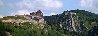 Fort de Joux - The Fort de Joux dominating the main road between France and Switzerland for centuries.