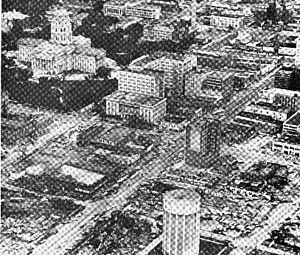 Tornado outbreak sequence of June 1966 - Damage in downtown Topeka.