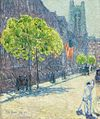 Just off the Avenue, Fifty-Third Street, May 1916 by Childe Hassam.jpg