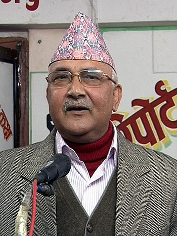 English: leader of CPN UML