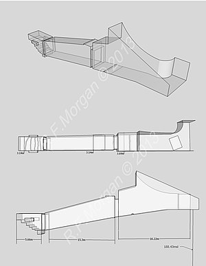 KV19 - Isometric, plan and elevation images of KV19 taken from a 3d model