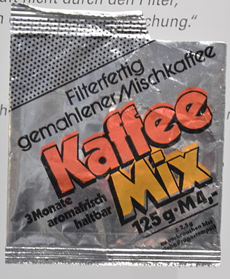 Coffee substitute - East German coffee mix, consisting of 51% coffee, produced due to shortages