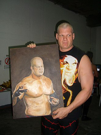 Kane (wrestler) - Kane with a portrait done by a fan