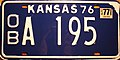 Kansas 1977 license plate sticker on 1976 license plate.jpg