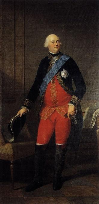 Charles Christian, Prince of Nassau-Weilburg - Charles Christian painted by Wilhelm Böttner, ca.1780