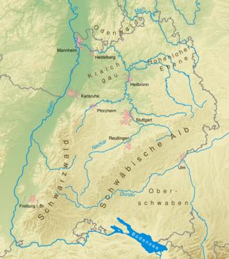 Karte Baden-Wuerttemberg physisch.png