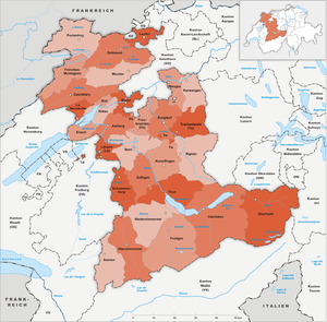 Subdivisions of the canton of Bern - Image: Karte Kanton Bern Bezirke 1978