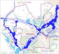 Karte der Wasserstraßen in Potsdam.png