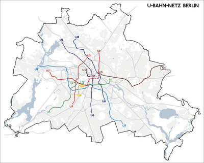 Berlin UBahn Wikipedia - Berlin us bahn map