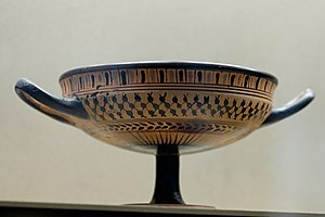 Little-Master cup - Kassel Cup by an unknown Attic artist, circa 540 BC. Louvre.