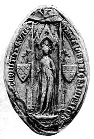 Latin Emperor - Seal of Catherine of Courtenay