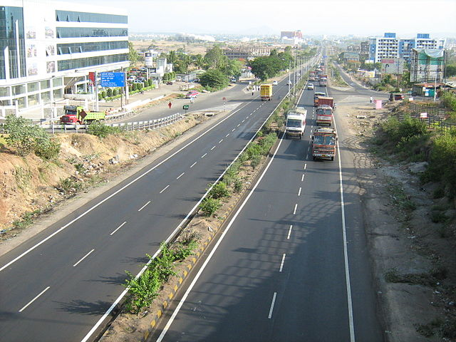 The Dehu Road - Katraj Bypass at Pashan in Pune along the Mumbai-Pune-Bangalore National Highway.