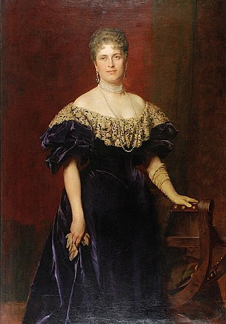 Princess Maria Josepha of Saxony (1867–1944) - Kazimierz Pochwalski - Portrait of Princess Maria Josepha of Saxony 1897